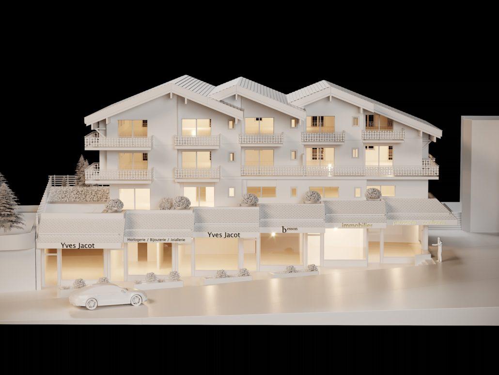 Très jArchitecture Verbier Ski Alps 3D Printing Architecture 3D White  ZH75